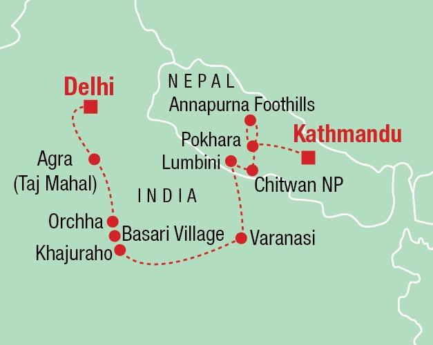 Indien & Nepal - Karte