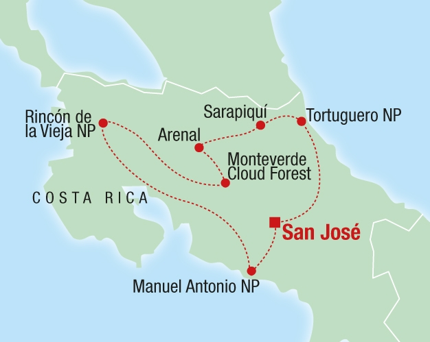 Abenteuer Costa Rica - Karte