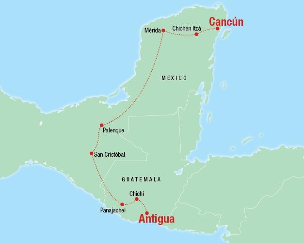 Markets & Mayans - Karte