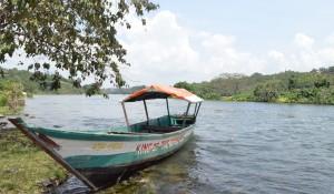 Fischerboot, Jinja, Uganda