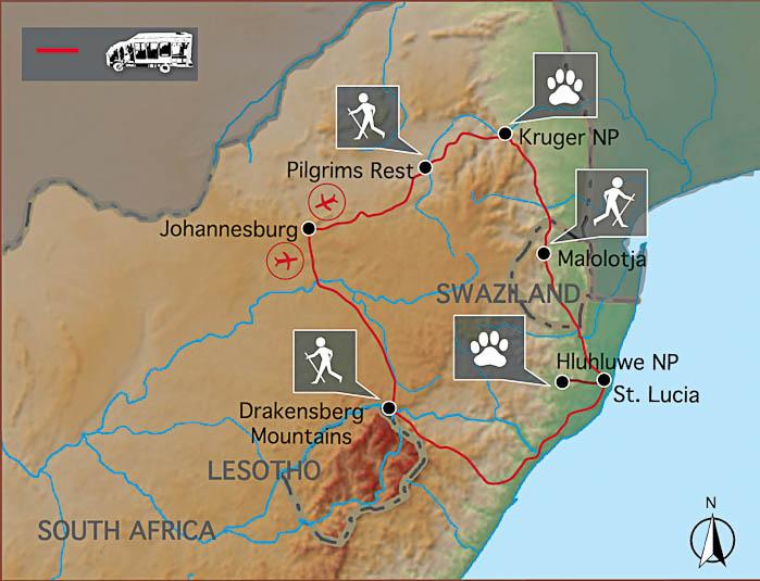 Scenic Route - Karte