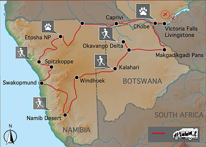 Wüste & Delta - Karte