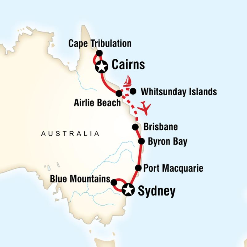 Best of Australia - Karte