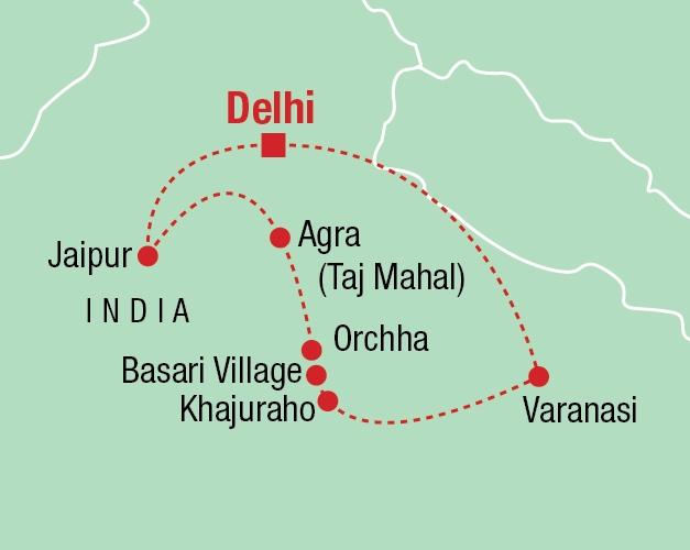 Spiritual India - Karte