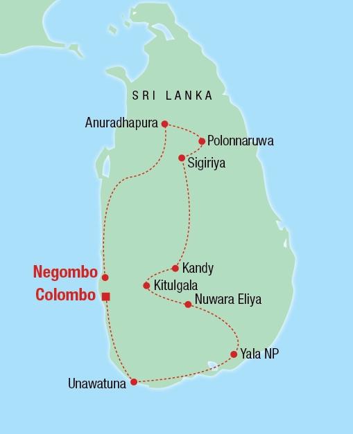 Jewels of Sri Lanka - Karte