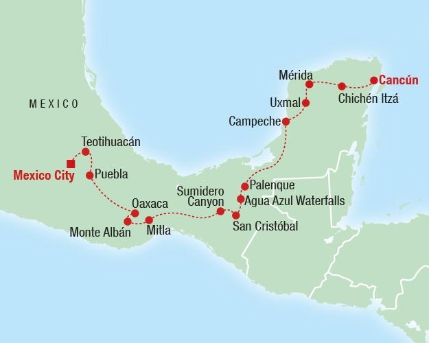 Wonders of Mexico - Karte